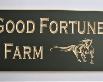Custom Wood Sign Carved Wood Farm Sign Wood House Sign Outdoor Sign Cottage Sign