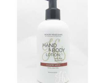 Country Apple Hand & Body Lotion Moisturizer Cream with Aloe and Vitamin E - Natural Lotion, Body Lotion, Hand Cream