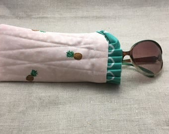 Quilted Sunglass Pouch - Eyeglass Pouch - Sunglass Case - Eyeglass Case