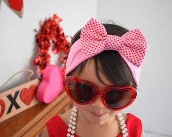 Valentines Baby Bow Headband