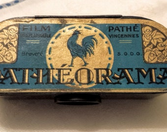 Antique photo accessory - Patheorama - film pathe - Vicennes - film viewer - Antique celluloid film viewer - rare antique animation