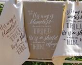 Psalm 18:30  towel