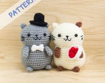 Cat Crochet Pattern - Amigurumi Cat Pattern - Crochet Cat Couple Pattern - Cat Doll Pattern - Cat Plush Pattern - Stuffed Cat Pattern