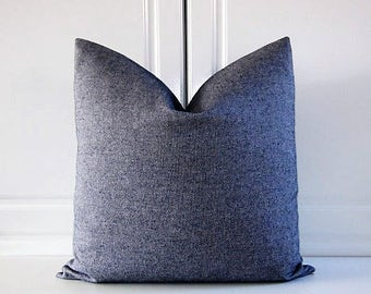 Barclay Butera Decorative Pillow Cover-Indigo Tweed-18x18,20x20