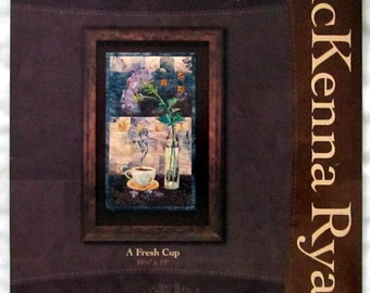 "Coffee Classics ""A Fresh Cup"" Applique Quilt Pattern - Pine Needles - McKenna Ryan"