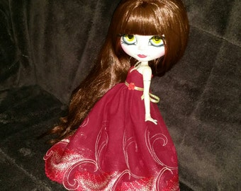 """Blythe dress """"Glamour in red"""""""