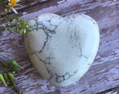 Howlite-Howlite Heart-Extra Large Gemstone Heart