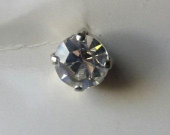 Vintage Faux Diamond Glass Buttons