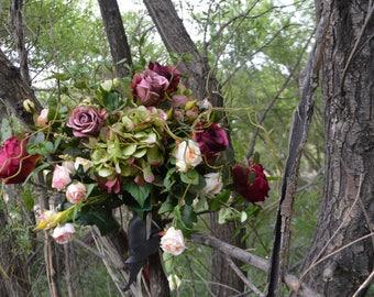 Bohemian Bouquet, Garden Fresh Bouquet,Blush Bouquets, Bridal Bouquet, XL bouquet, XL BOHO bouquet