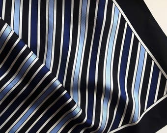 Vintage silk Striped Scarf