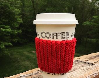 Coffee Cozy Sleeve Red