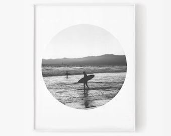 Surfer printable, Surfer ocean, Summer ocean, Surf print, Surf printable, Surfer print, Summer print, Ocean print, Ocean printable