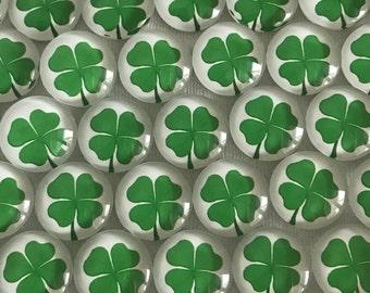 Four Leaf Clover Shamrock Thumbtacks of Magnets
