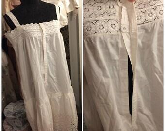 1920s nightgown, 20s, lingerie, 20s slip, 1900, cotton