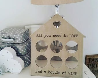 Rustic Wine Rack 6 Bottles