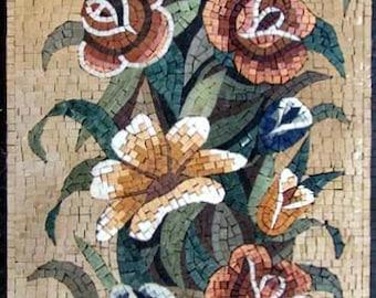 Chrysanthemum Flower Mosaic Pattern