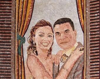 Customized Couple Photo Mosaic