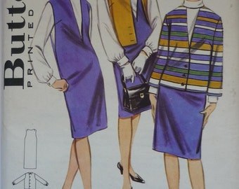Vintage Sewing Pattern. Butterick 3183. jumper dress with coordinates. 1960s.