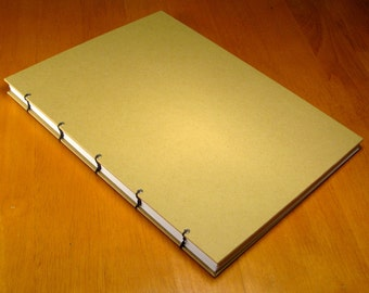 9x12 Blank Journal:  Handmade Coptic-Bound Sketchbook, Notebook, Diary, or Journal. Size Baritone.