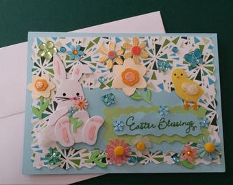 Bunny Easter Blessing Card