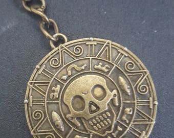 Pirates of the Caribbean Coin Necklace or Keychain