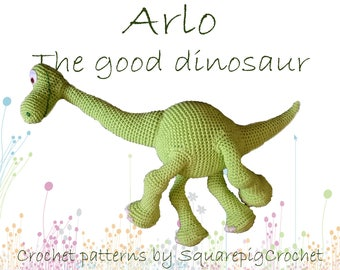Arlo the good dinosaur crochet pattern 20 inch tall