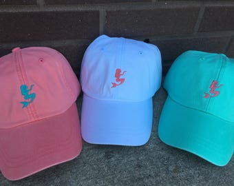 Mermaid Customizable Hat - Custom Tiny Design Baseball Caps