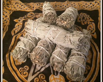 "White Sage Smudge Sticks ~ 4"" ~ 4 1/2"" Long ~ Purification ~ Cleansing ~ Protection ~ Wicca ~ Witch ~ Native Americsn"