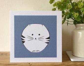 Cat greeting card.