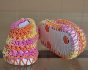 MultiColor Crocheted Toddler Slipper/House Shoe Size 5
