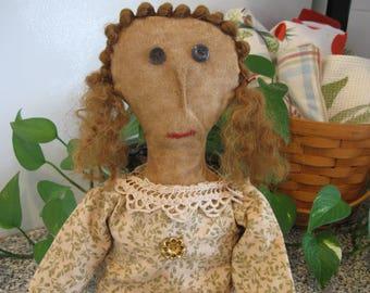 Primitive Doll Francine, OOAK, Primitive Doll, Primitive Folk Doll, Primitive Rag Doll