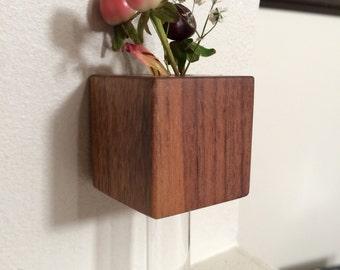Wooden Magnetic Bud Vase - Customizable