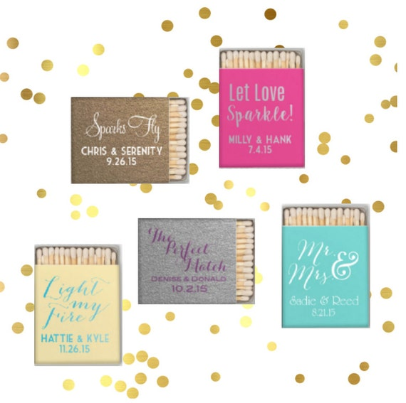 Wedding matches, Wedding matchbox, Reception matches, Personalized matchbook, Custom matches, party favor match book