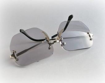 Vintage Sunglasses, Retro fashion, Unused, Summer accessory, Original packing, Made in USSR, Soviet Union, 1988