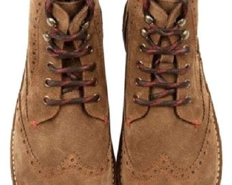 Retro Style 100% Authentic Ted Baker Brown Tiplip Suede Ankle  Chukka Dress Boots Men Size 7