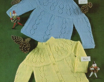 Baby Knitting Pattern  Matinee Coat or Angel Top pdf