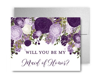 Will You Be My Bridesmaid Card, Bridesmaid Cards, Ask Bridesmaid, Bridesmaid Maid of Honor Gift, Matron of Honor, Flower Girl #CL246