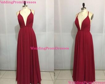 Red chiffon dress  Etsy