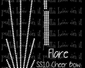 Flare ss10 Rhinestone Cheer Bow Strip Template