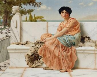 John William Godward: Reverie (In the Days of Sappho). Fine Art Print/Poster. (004050)