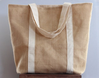Hessian Tote | Shopping Bag | Grocery Bag | Nappy Bag | Laundry Bag