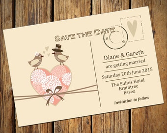 Wedding Save The Date Invitations No. 6