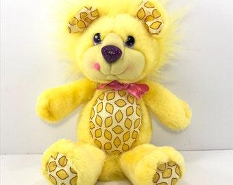 "FREE SHIPPING! Vintage Hallmark Lucky Lion Yum Yums 14"" 1989 Stuffed Plush Animal (#19)"