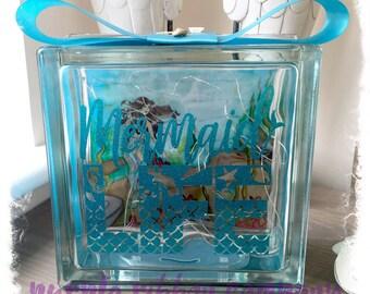 NEW Glass Block Light - Mermaid LIFE