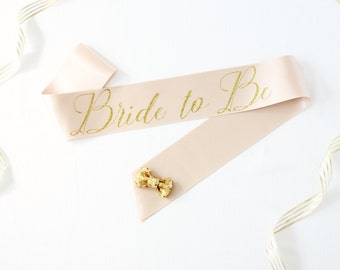 Bride to Be Sash in Font #4 - Bachelorette Party - Bride Gift - Bride Sash - Bridal Shower - Bachelorette Accessory