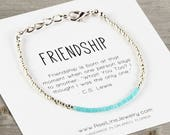 FRIENDSHIP Bracelet in SILVER, Best Friend Friendship Bracelet, Friend Bracelet, Best Friend Bracelet, Friendship Gift, Friend Gift