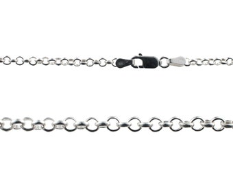 Sterling Silver Rolo Chain - 22 Inch - 2.8 mm - CHM-22-SS