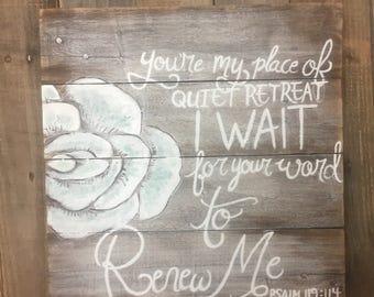 Quiet Retreat Wood Sign