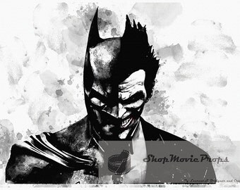 Batman Vs Joker calligraphy