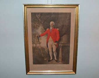 """8168: ORIGINAL 1812 Mezzotint Engraving Henry Callender ESQ by William Ward PROOF Framed Print """"To the Society of Coffers at Blackheath"""""""
